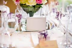 Brölloptabellkort Royaltyfri Foto