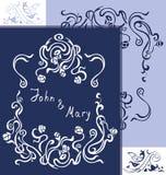 Brölloptappningkort Royaltyfria Foton