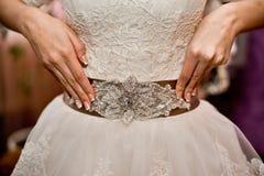 Brölloptillbehör för brud Arkivbild
