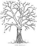 Bröllopträd royaltyfri illustrationer