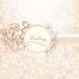 Bröllopvektordesign i tappningstil Royaltyfri Fotografi