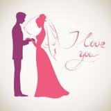 Bröllopvektorkort Arkivfoton