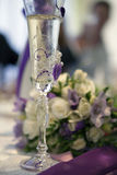 Bröllopvinexponeringsglas Royaltyfria Bilder