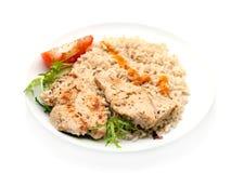 bröst stekt ricesteakskalkon Arkivfoto
