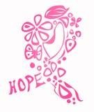 Bröstcancermedvetenhetband Arkivfoto