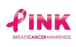 Bröstcancermedvetenhetband Arkivfoton