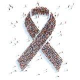 Bröstcancermedvetenhetband royaltyfri illustrationer