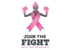 Bröstcancermedvetenhetmeddelande vektor illustrationer