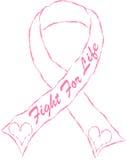 Bröstcancersymbol Fotografering för Bildbyråer