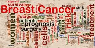 bröstcancerwordcloud vektor illustrationer