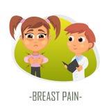 Bröstet smärtar begrepp också vektor för coreldrawillustration Royaltyfri Fotografi
