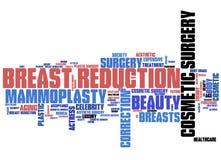 Bröstförminskning stock illustrationer