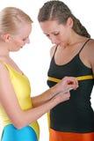 bröstmätning Arkivbilder