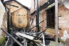 Brûlé à l'extérieur à la maison Photographie stock libre de droits