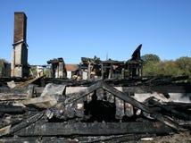 Brûlé à la maison Photographie stock