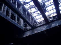 Brûlé en bas de 3 Photo libre de droits