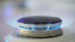 Brûleur à gaz de cuisine banque de vidéos