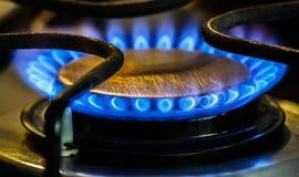 Brûleurs à gaz naturels de poêle Photos libres de droits