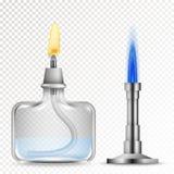 Brûleurs chimiques à équipement Photo stock