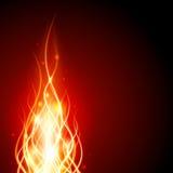 Brûlez l'incendie de flamme Photo libre de droits