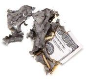 Brûlure de 100 USD Images libres de droits