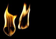 Brûlures d'amour Photos libres de droits