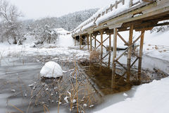 Brücke über Abant Lake-4 Lizenzfreies Stockbild