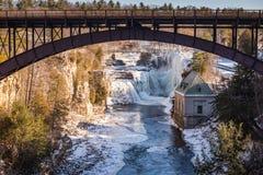 Brücke über Ausable-Abgrund - Keeseville, NY Lizenzfreies Stockfoto
