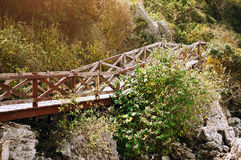Brücke über Berg stockfotografie
