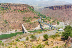 Brücke über blauem Nil Lizenzfreie Stockfotos