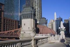 Brücke über Chicago-Fluss Lizenzfreies Stockbild