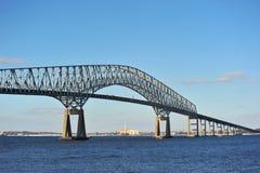 Brücke über dem Chesapeake-Schacht Stockfotos
