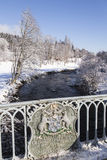 Brücke über dem Fluss Don in Schottland Lizenzfreies Stockbild