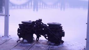 Brücke über dem Fluss, Zaporozhye, Ukraine stock video footage
