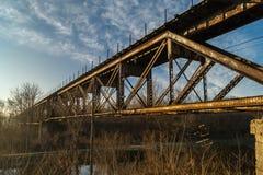 Brücke über dem I u. dem M Canal Stockbilder