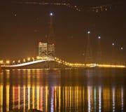 Brücke über dem James-Fluss, Newport Nachrichten, VA lizenzfreie stockbilder