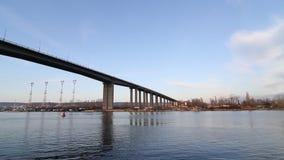 Brücke über dem Meer stock footage
