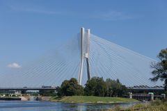 Brücke über dem Oder Breslau Lizenzfreie Stockfotografie
