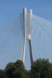 Brücke über dem Oder Breslau Stockbild