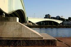 Brücke über dem Seine in Rouen lizenzfreies stockfoto