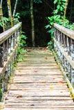 Brücke über dem Wasserfall Lizenzfreie Stockbilder