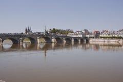 Brücke über der Loire. Stockfoto