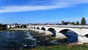 Brücke über der Loire in Amboise in der Indre-et-Loire-Abteilung in Mittel-Frankreich Lizenzfreies Stockfoto