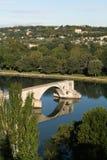 Brücke über der Rhône Stockfoto