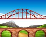 Brücke über der Wand vektor abbildung