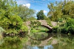 Brücke über einem See im Central Park, New York City Lizenzfreie Stockbilder