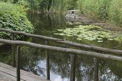 Brücke über Fluss stockbild