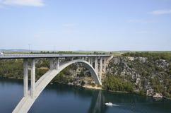 Brücke über Fluss krk Lizenzfreies Stockbild