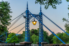 Brücke über Fluss Leam Lizenzfreies Stockbild