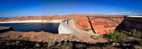 Brücke über Glen Canyon Dam Stockfotografie